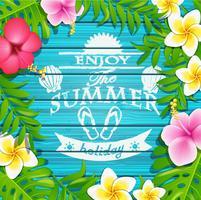Geniet van de zomervakantie. vector