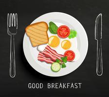 Goed ontbijt belettering.