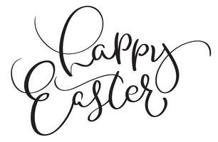Gelukkige Pasen-woorden op witte achtergrond. Kalligrafie die Vectorillustratie EPS10 van letters voorzien