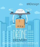 Concept van de levering door de drone.