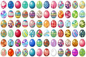 Paas eieren vector