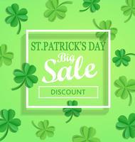 Saint Patricks Day verkoop poster sjabloon.