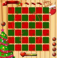 Kerstthema spel met rood en groen vector