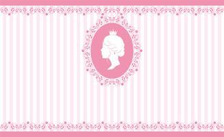 Vintage roze achtergrondontwerp