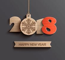 Modern Gelukkig Nieuwjaar 2018 ontwerp. vector