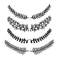 Krans van bladeren vintage. vector