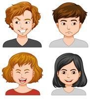 Mannen en vrouwen met verschillende emoties vector