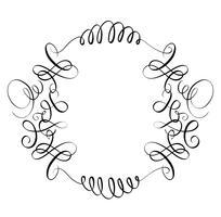 elementen van vintage bloeien decoratieve whorls voor ontwerp. Kalligrafie Vector illustratie EPS10