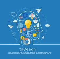 Concept van groot idee. vector