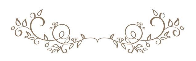 kunstkalligrafie van vintage decoratieve slierten voor ontwerp. Vector illustratie EPS10