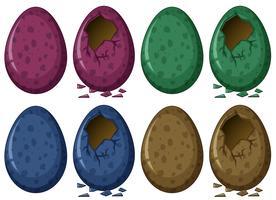 Eieren in vier kleuren