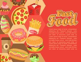 fast food, vector. vector