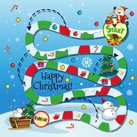 Bordspel sjabloon met kerstthema vector