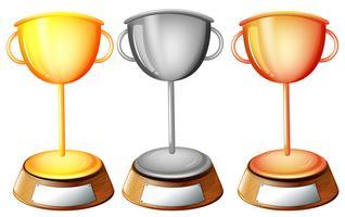 Drie trofeeën