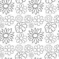 Naadloze bloemen in ontwerp vector