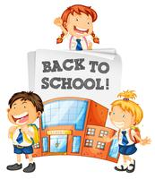 Studenten terug naar school sjabloon