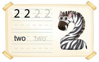 Zebra nummer twee werkblad