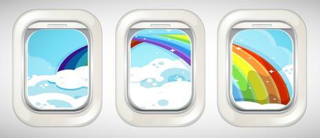 Rainbow buiten het raam