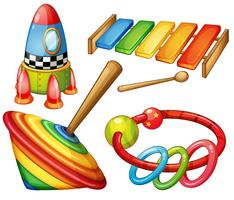 Kleurrijk houten speelgoed ingesteld