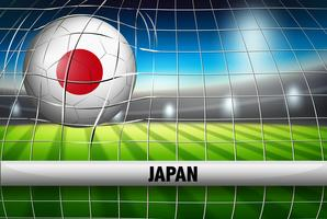 Een voetbalbal van Japan bij doel