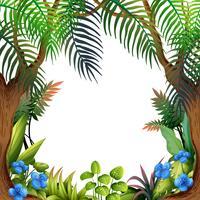 Een prachtige bos en bloemen sjabloon vector