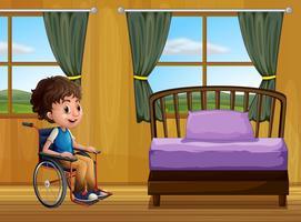 Jongen en slaapkamer vector