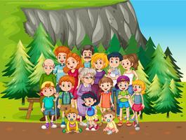 Familie en park
