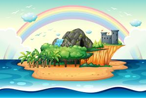 Onbewoond eiland vector