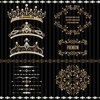 Verzameling van koninklijke ontwerpelementen instellen