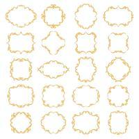 Stel verzameling van sier vintage frames vector