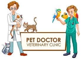 Een banner van dierenkliniek