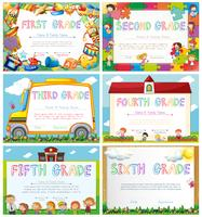 Diploma-sjablonen voor de basisschool vector