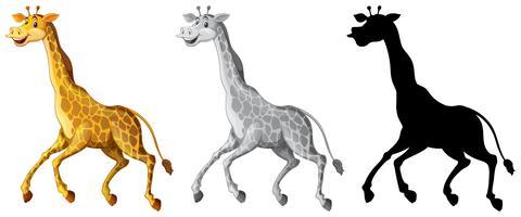 Set van giraffe karakter vector