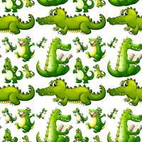 Naadloze krokodil die activiteiten doet vector