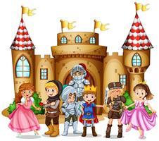 Tekens uit sprookjes en kasteel vector