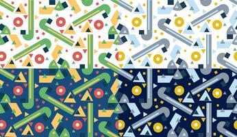 Retro verschillende naadloze patronen tegels.