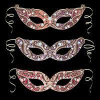 Venetiaans carnaval masker vector