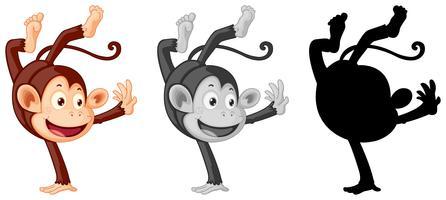 Set van monster karakter vector