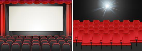 Filmscherm in de bioscoop vector