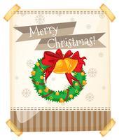 Vrolijk Kerstteken met ornamenten vector