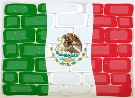 Maxico-vlag op de muur vector