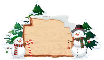 Houten banner met Kerstmis deze