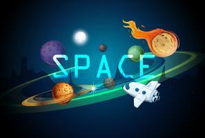 Een sjabloon voor een ruimtesysteem vector