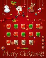 Spelsjabloon met christmast-objecten vector