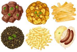 Verschillende sets van voedsel