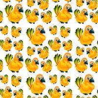 Geel papegaai naadloos patroon