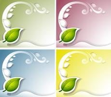 Vier bladachtergrond