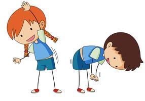 Uitrekken van de jongen en het meisje