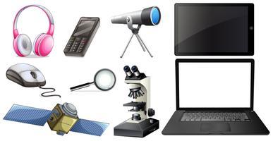 Een reeks technologie-apparatuur