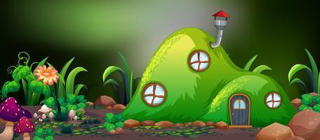 Fairy hill huis in de natuur vector